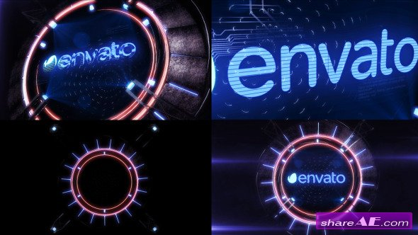 Holographic Mechanism Logo - After Effects Project (Videohive)