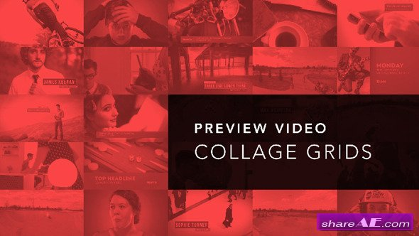 Preview Video Screen Collage Grids - After Effects Project (Videohive)