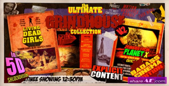 The Ultimate Grindhouse Collection V2 - After Effects Project (Videohive)