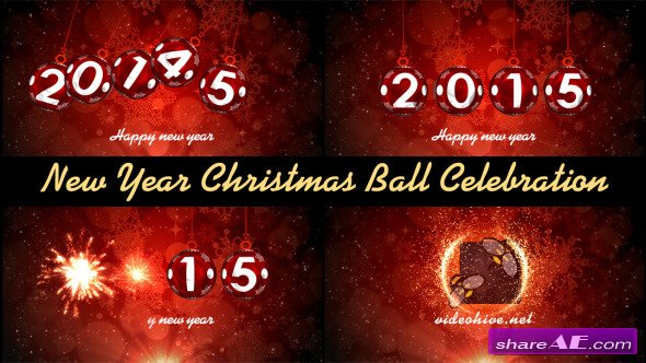 New Year Christmas Ball Celebration - After Effects Project (Videohive)