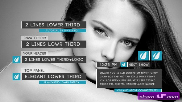 Clean Lower Thirds Package - After Effects Project (Videohive)