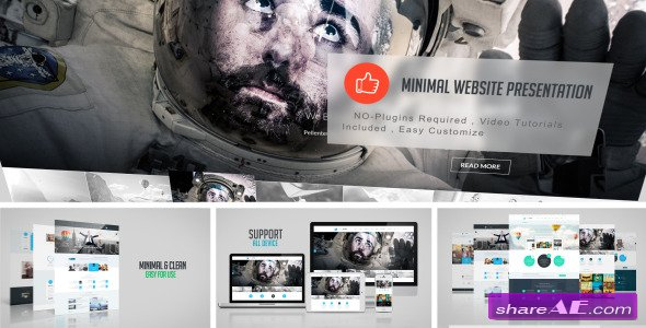 Minimal Website Presentation After Effects Project Videohive