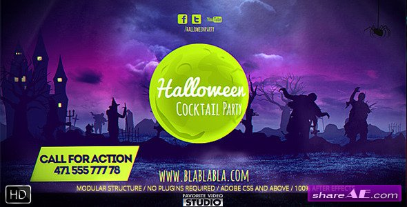 Videohive Halloween Logo Free After Effects Templates After