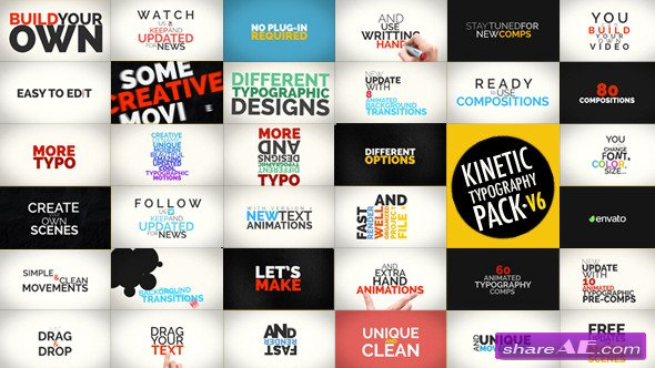 Kinetic Typography Pack V.6 7224203 - After Effects Project ...