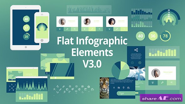 Flat Infographic Elements V3.0 - After Effects Project (Videohive ...