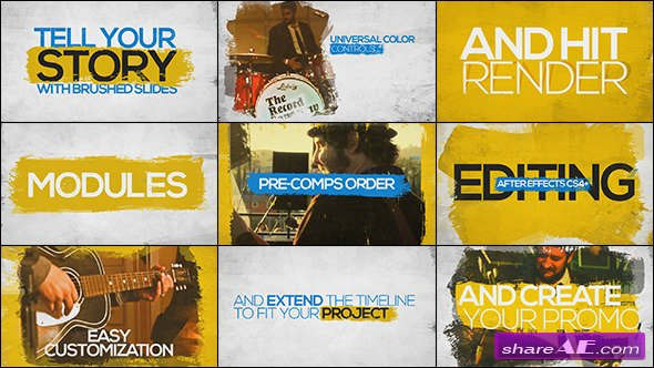 Brushed Slides - Promo Kit - After Effects Project (Videohive)