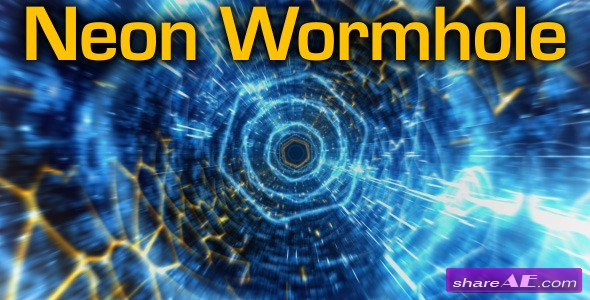 Neon Wormhole - hi-tech tunnel flythrough - Motion Graphic (Videohive)