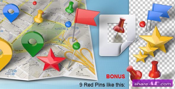 Map Generator with Real 3D Markers - After Effects Project (Videohive)
