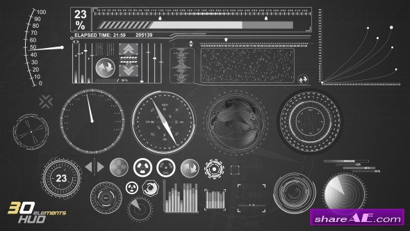 31 Hud/Infographic Elements - After Effects Project (Videohive)