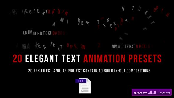 Animated Text - After Effects Presets (Videohive)
