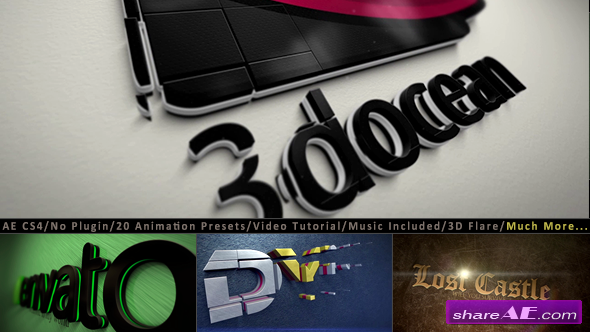 3D Logo Title Intro Animation Kit - After Effects Project (Videohive)