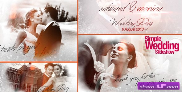 simple wedding slideshow after effects project videohive
