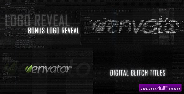 Digital Glitch Titles and Logo Reveal - After Effects Project (Videohive)