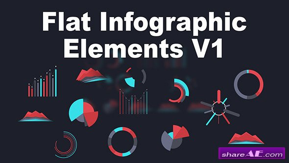 Flat Infographic Elements V1 - After Effects Project (Videohive)