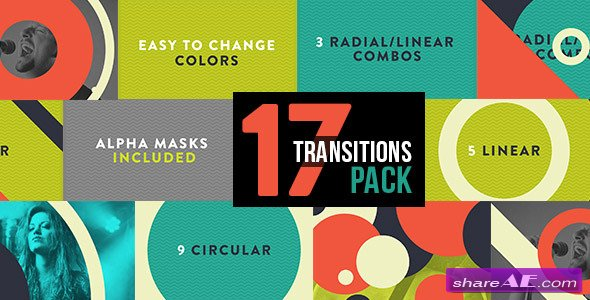 Graphic Transitions 17 Pack - After Effects Project (Videohive)