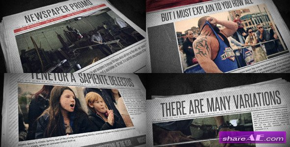 Newspaper Promo - After Effects Project (Videohive)