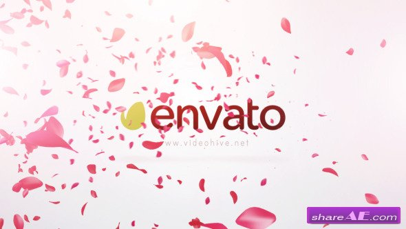 Free After Effects Logo Template Falling Flower Petals After Effects
