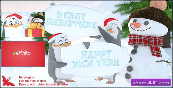 Christmas Penguins - After Effects Project (Videohive)