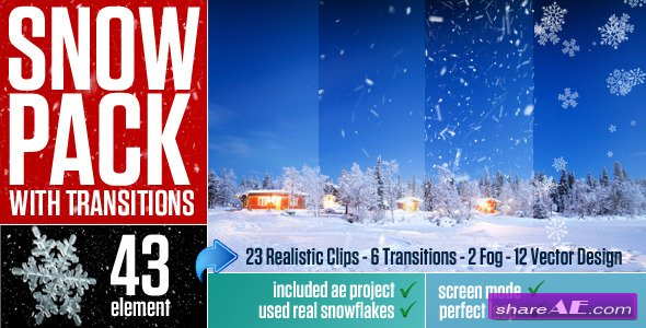 Snow Pack with Transitions - Motion Graphics (Videohive)