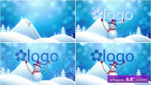 Snowman Brings Logo - After Effects Project (Pond5)
