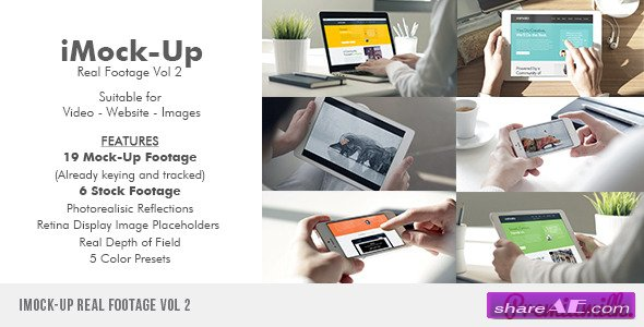 iMock-Up Real Footage Vol 2 - After Effects Project (Videohive)