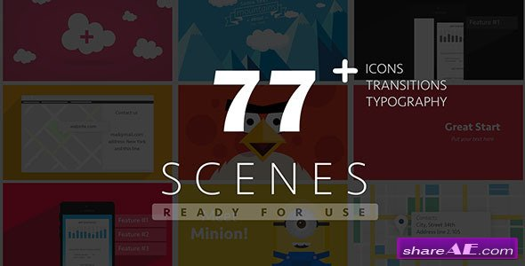 77 Ready For Use Scenes - After Effects Project (Videohive)
