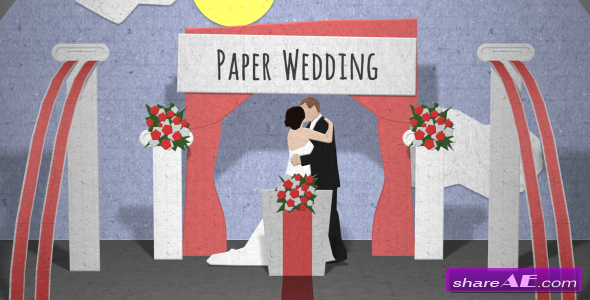 Paper Wedding Opening - After Effects Project (Videohive)
