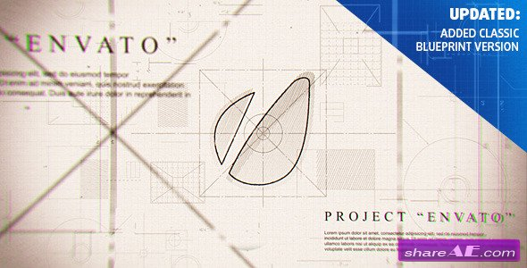 Videohive Blueprint Logo - After Effects Project