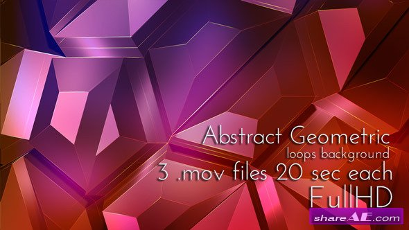 Videohive Geometric Abstract Techno Surface - Motion Graphics