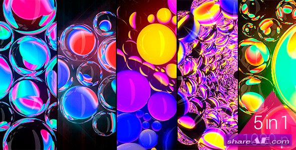 Refracting Spheres - VJ Pack (120bpm) - Motion Graphic (Videohive)