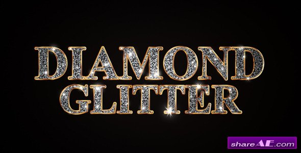 Videohive Diamond Glitter Titles - After Effects Project