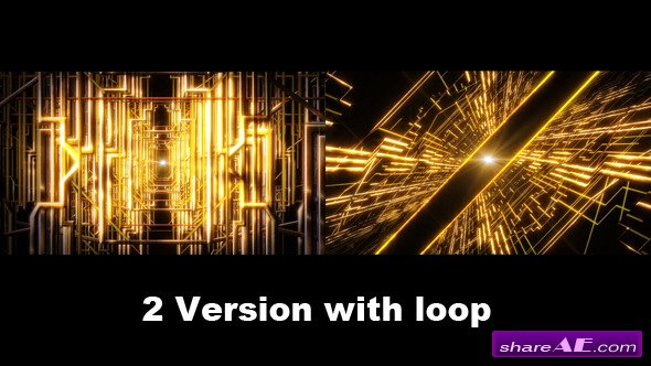 Golden Line Space - Motion Graphic (Videohive)