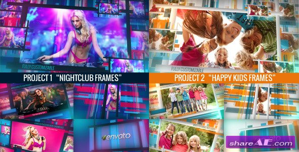 Videohive Chameleon Frames Photo Galleries - After Effects Project