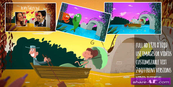Videohive A Fishy Valentine Cartoon - After Effects Project