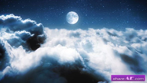 Videohive Clouds in a Night Sky - After Effects Project
