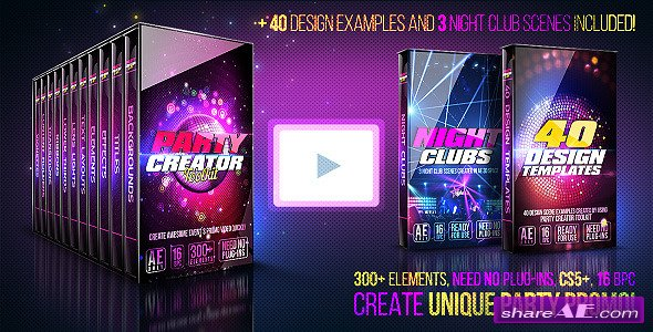Videohive Party Creator Toolkit - After Effects Project