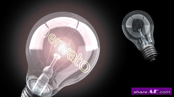 Videohive Bright Idea Light Bulb Logo - After Effects Project