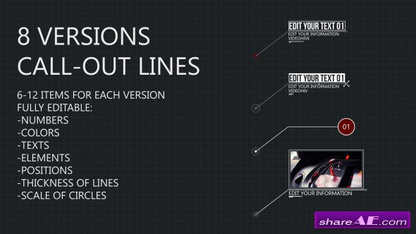 Videohive 8 Line Call-Outs - After Effects Project