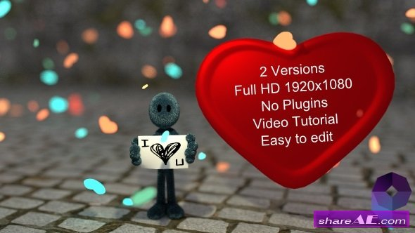 Videohive I love You - After Effects Project