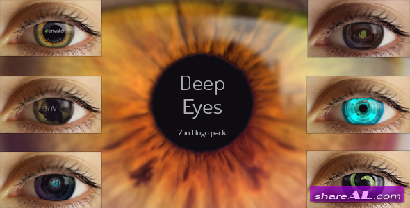 Videohive Deep Eyes | 7 in 1 logo pack - After Effects Project