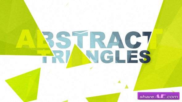Videohive Abstract Triangles Logo Reveal - After Effects Project