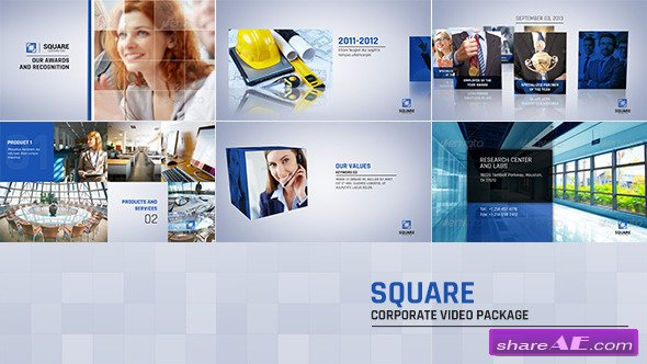 Videohive Square Corporate Video Package - After Effects Project