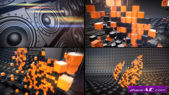 Videohive Loud Speaker Logo Text Reveal - After Effects Project