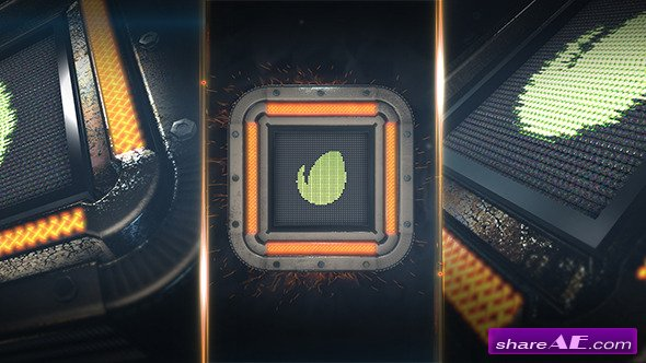 Videohive Square Tech Logo - After Effects Project