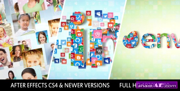 Videohive Photos Icons Logo Formation - After Effects Project