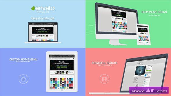 videohive website presentation - after effects project » free, Presentation templates
