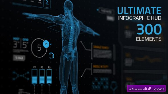 Videohive Ultimate Infographic HUD [300] - After Effects Project