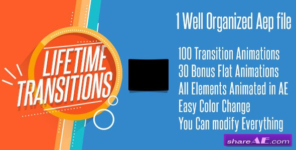 Videohive Lifetime Transitions Pack - After Effects Project