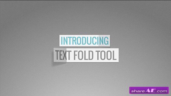 Videohive Text Fold Tool - After Effects Project