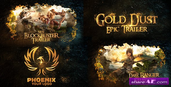 Videohive Gold Dust Epic Trailer - After Effects Project